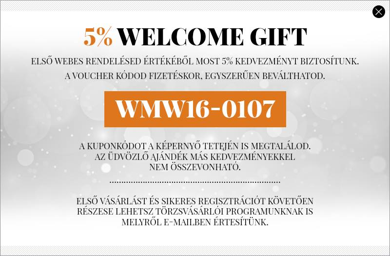 5% WELCOME GIFT - WMW16-0107